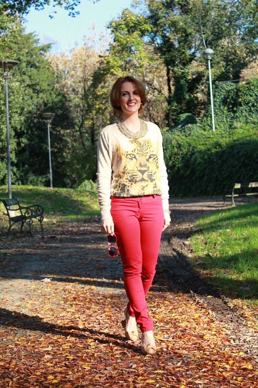 Indian Savage Margaret Dallospedale The Indian Savage diary red pants & Tiger sweater 1