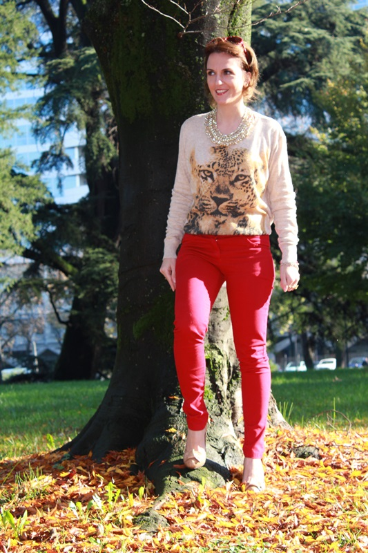Indian Savage Margaret Dallospedale The Indian Savage diary red pants & Tiger sweater 2