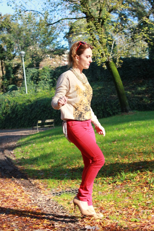 Indian Savage Margaret Dallospedale The Indian Savage diary red pants & Tiger sweater 7