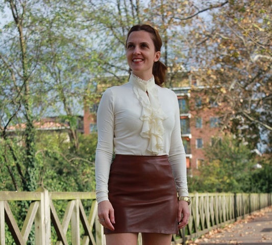 Leather skirt? dandy style! - Indiansavage.com by Maggie Dallospedale