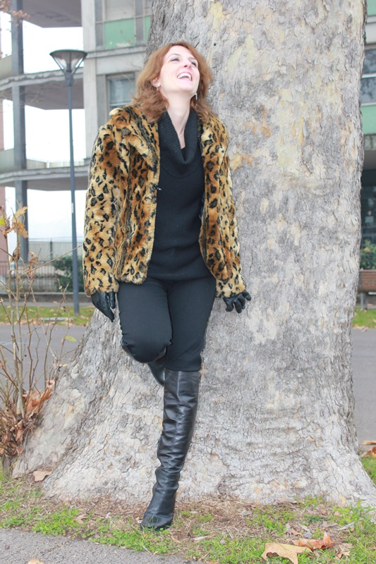 Indian Savage Margaret Dallospedale The Indian Savage diary leopard coat how to wear 1