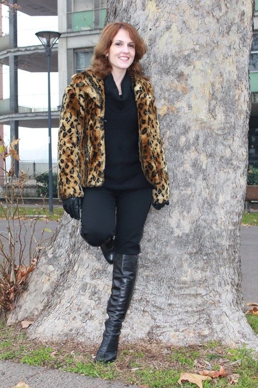 Indian Savage Margaret Dallospedale The Indian Savage diary leopard coat how to wear 2