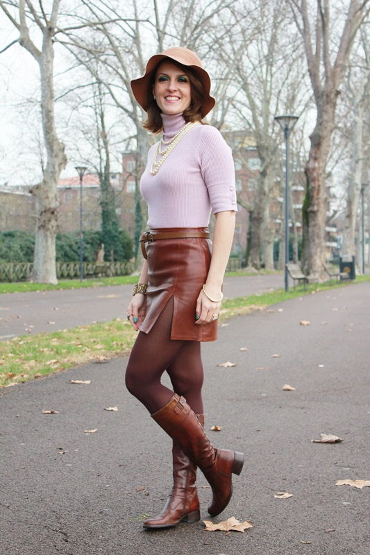 Indian Savage Margaret Dallospedale The Indian Savage diary winter outfit leather skirt 2