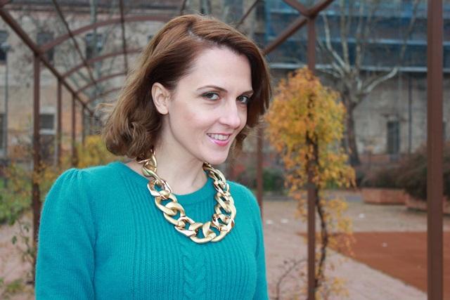 Indian Savage, Margaret Dallospedale, The Indian Savage diary, Fashion blogger, Fashion Blog, Piacenza blog, Wichita blog, Venezuela blog,  Mustard pants Emerald green sweater 1