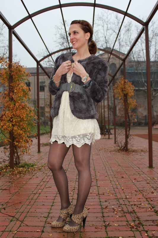 Margaret Dallospedale Indian Savage The Indian Savage diary Grey Fur coat lace dress 2