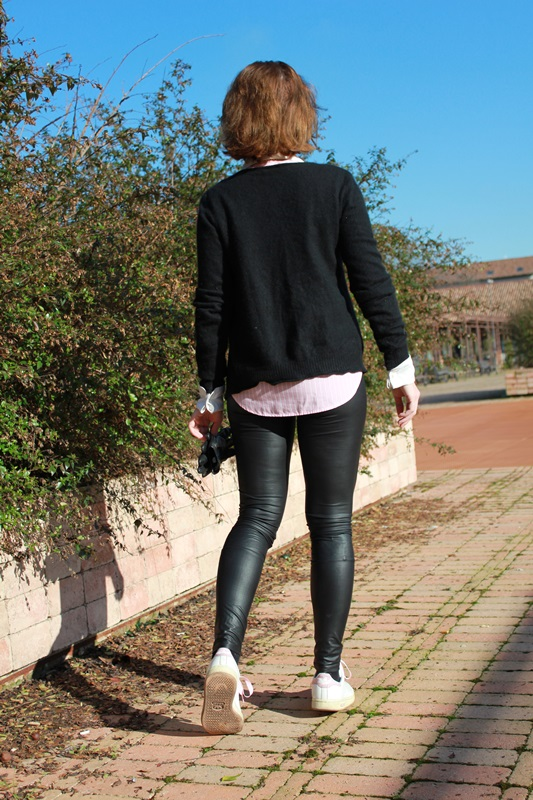 Margaret Dallospedale The Indian Savage diary IndianSavage leather leggings & Sweakers 5