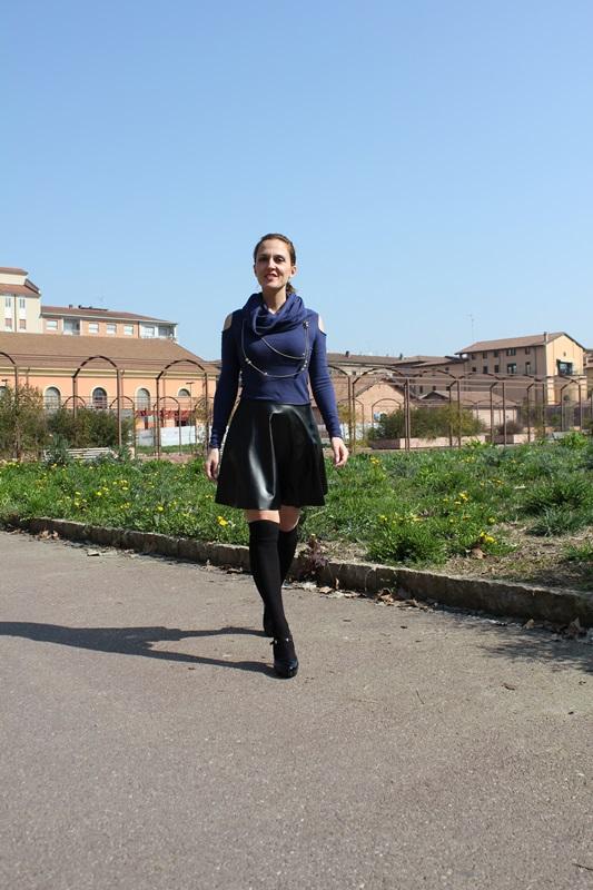 Margaret Dallospedale, The Indian Savage, Indian Savage, Fashion blog, Fashion blogger, leather skater skirt, 2