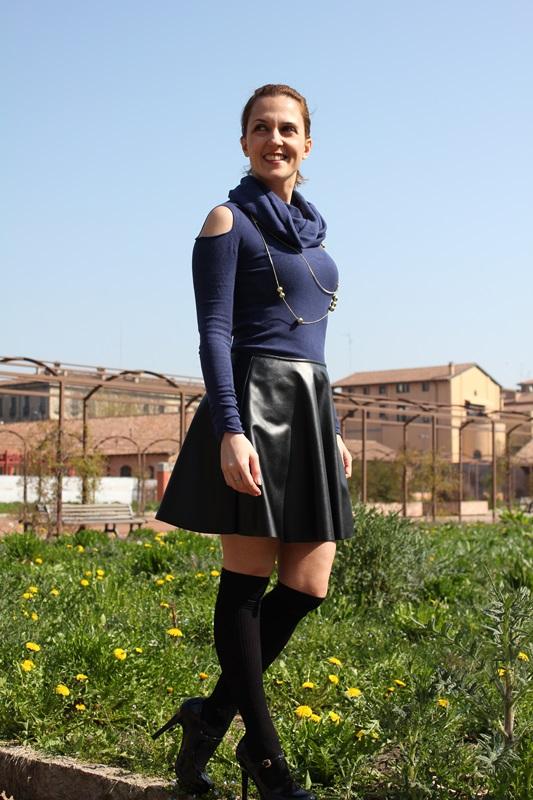 Margaret Dallospedale, The Indian Savage, Indian Savage, Fashion blog, Fashion blogger, leather skater skirt, 3