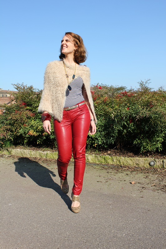 Margaret Dallospedale, The Indian Savage diary, Fashion blogger, fashion blog, indiansavage.com, burgundy leather pants, 1