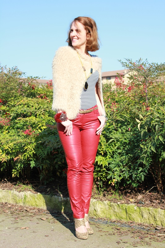 Margaret Dallospedale, The Indian Savage diary, Fashion blogger, fashion blog, indiansavage.com, burgundy leather pants, 3
