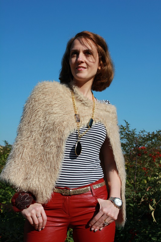 Margaret Dallospedale, The Indian Savage diary, Fashion blogger, fashion blog, indiansavage.com, burgundy leather pants, 7