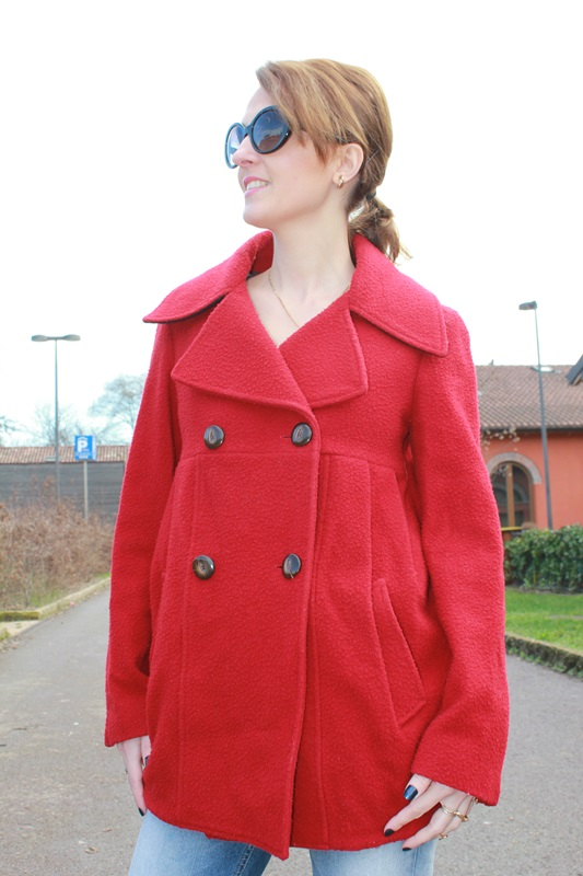 Margaret Dallospedale, The Indian Savage diary, Indian Savage, fashion blogger, fashion blog, red coat, 3