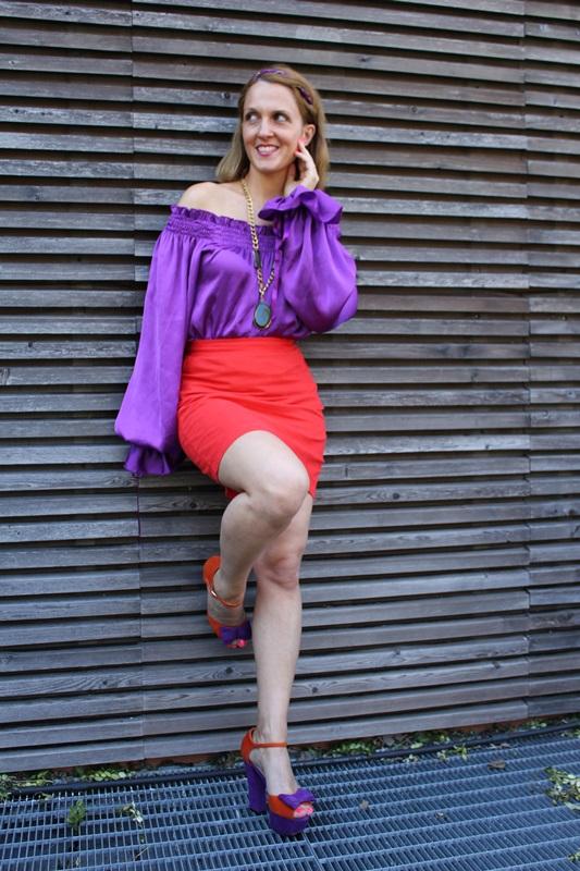 Margaret Dallospedale, Fashion blogger, The Indian Savage diary, Fashion blog, www.indiansavage.com, fashion tips, Lifestyle, Guccimaison, Orange and purple,  1