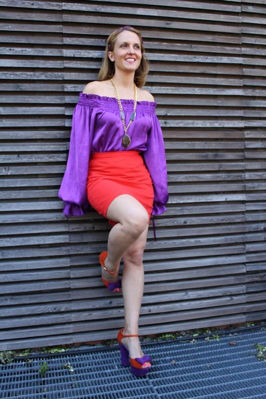 Margaret Dallospedale, Fashion blogger, The Indian Savage diary, Fashion blog, www.indiansavage.com, fashion tips, Lifestyle, Guccimaison, Orange and purple,  2