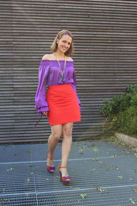 Margaret Dallospedale, Fashion blogger, The Indian Savage diary, Fashion blog, www.indiansavage.com, fashion tips, Lifestyle, Guccimaison, Orange and purple,  3