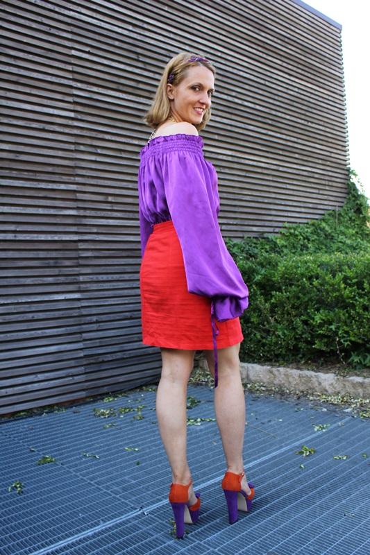 Margaret Dallospedale, Fashion blogger, The Indian Savage diary, Fashion blog, www.indiansavage.com, fashion tips, Lifestyle, Guccimaison, Orange and purple,  4