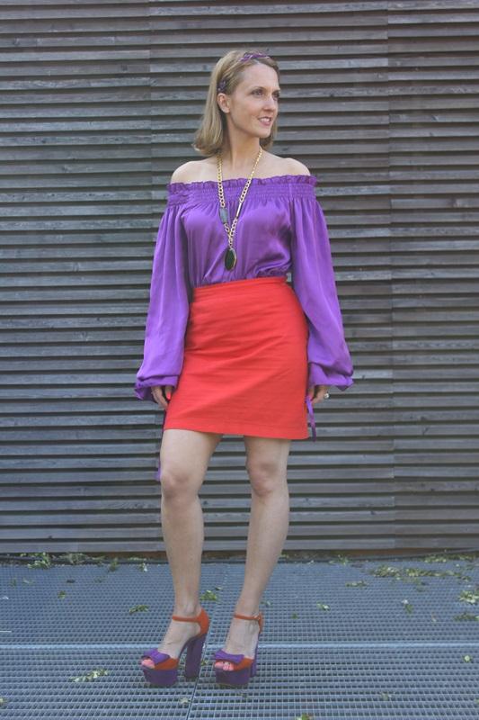 Margaret Dallospedale, Fashion blogger, The Indian Savage diary, Fashion blog, www.indiansavage.com, fashion tips, Lifestyle, Guccimaison, Orange and purple,  5
