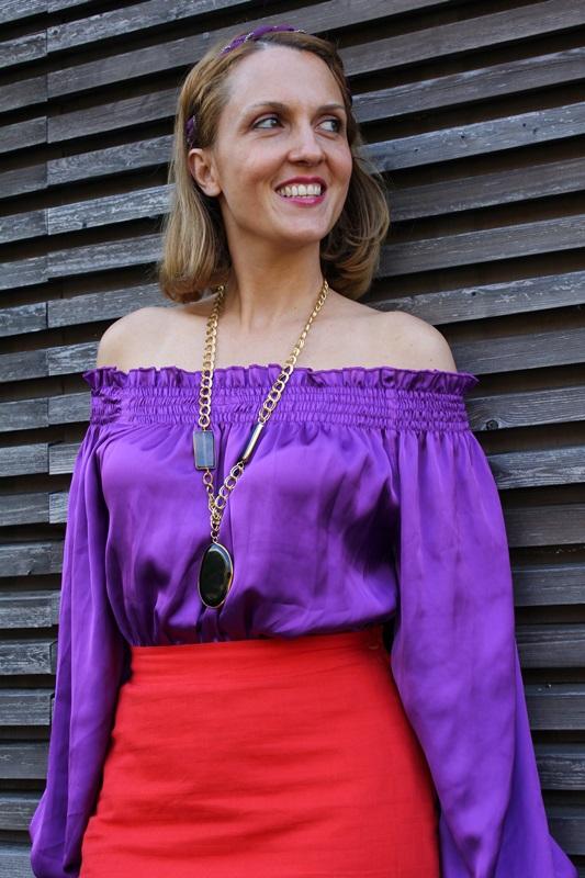 Margaret Dallospedale, Fashion blogger, The Indian Savage diary, Fashion blog, www.indiansavage.com, fashion tips, Lifestyle, Guccimaison, Orange and purple,  6