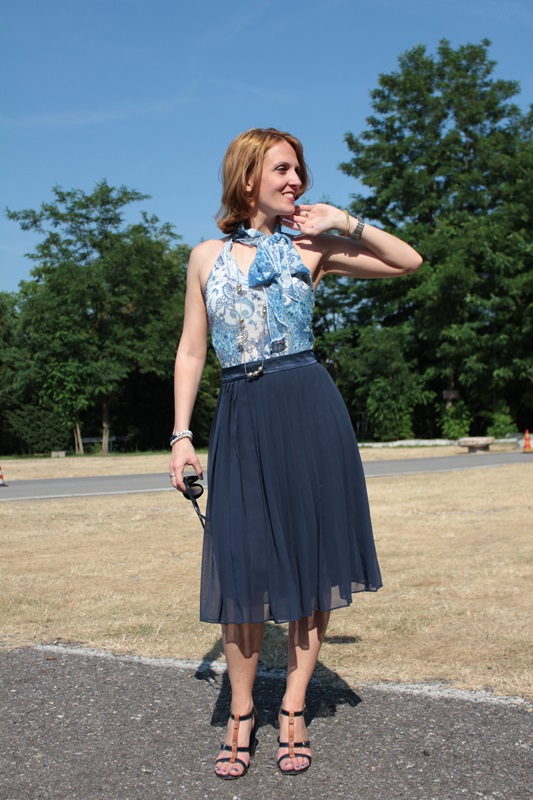 Margaret Dallospedale, Fashion blogger, The Indian Savage diary, Fashion blog, www.indiansavage.com, fashion tips, Lifestyle, How to wear, Blue pleated skirt, 0
