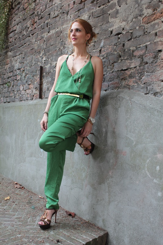 Margaret Dallospedale, Fashion blogger, The Indian Savage diary, Fashion blog, www.indiansavage.com, fashion tips, Lifestyle, How to wear, Green Jumpsui, Zara , 1