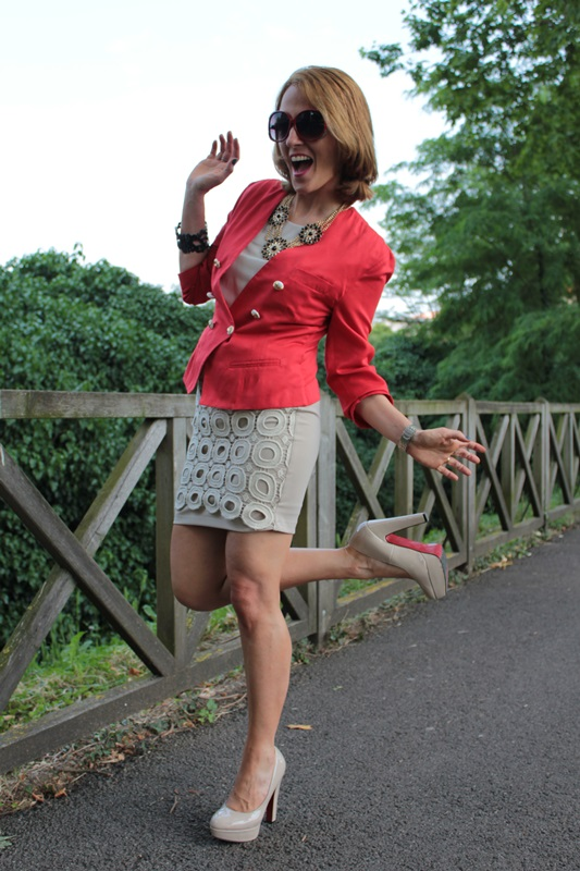Nude Dress And Shoes Fashion Tip 39 By Maggie Dallospedale