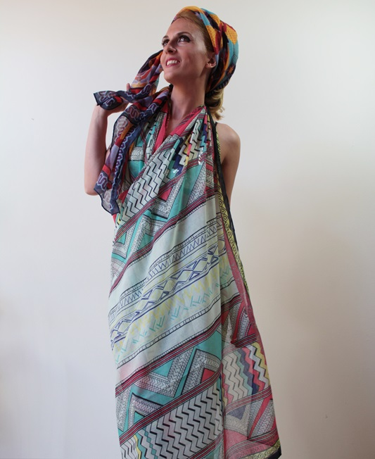 Margaret Dallospedale, Fashion blogger, The Indian Savage diary, Fashion blog, www.indiansavage.com, fashion tips, Lifestyle, How to wear, Scarves, PrintedVillage  5