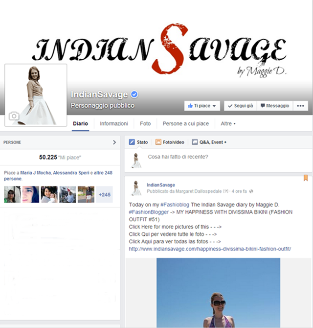 Social Networks IndianSavage The Indian Savage diary Margaret Dallospedale 0