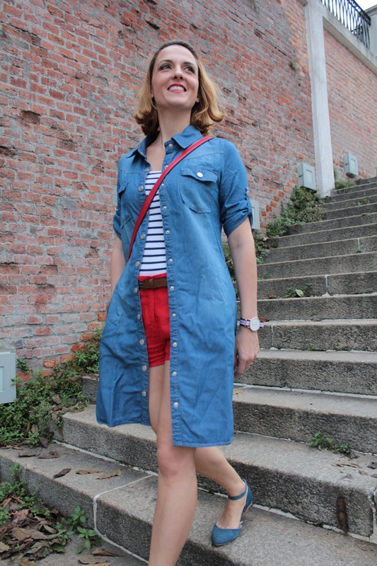 Margaret Dallospedale, Fashion blogger, Maggie Dallospedale Fashion diary, fashion tips, Lifestyle, Denim red striped, 10