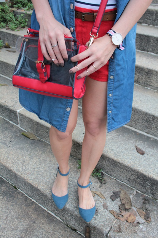 Margaret Dallospedale, Fashion blogger, Maggie Dallospedale Fashion diary, fashion tips, Lifestyle, Denim red striped, 7