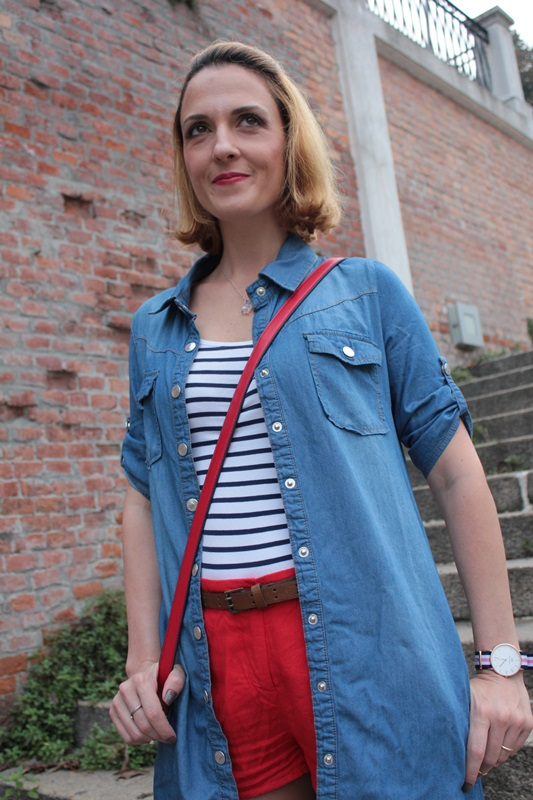 Margaret Dallospedale, Fashion blogger, Maggie Dallospedale Fashion diary, fashion tips, Lifestyle, Denim red striped, 8