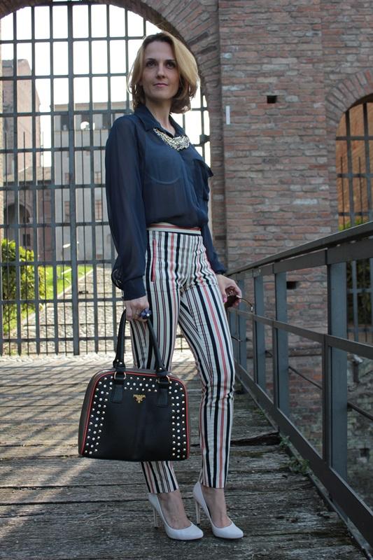 Margaret Dallospedale, Fashion blogger, Maggie Dallospedale Fashion diary, fashion tips, Lifestyle, Striped  pants, 1