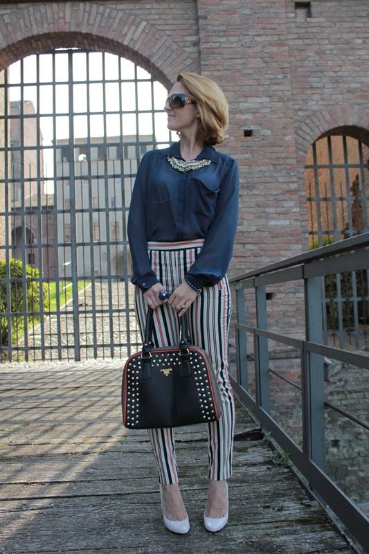Margaret Dallospedale, Fashion blogger, Maggie Dallospedale Fashion diary, fashion tips, Lifestyle, Striped  pants, 10