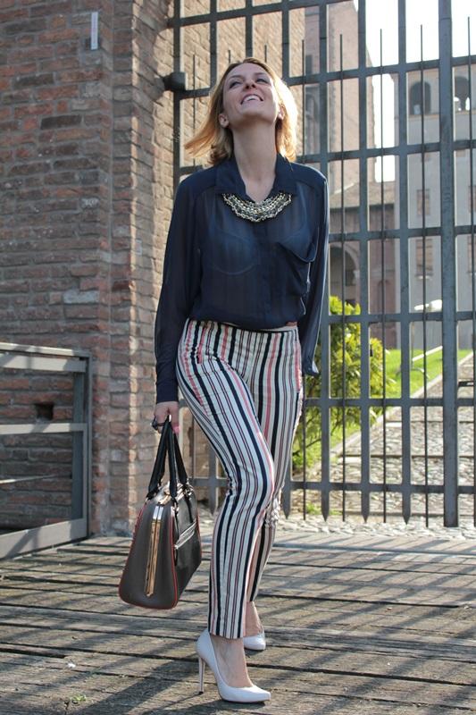Margaret Dallospedale, Fashion blogger, Maggie Dallospedale Fashion diary, fashion tips, Lifestyle, Striped  pants, 11