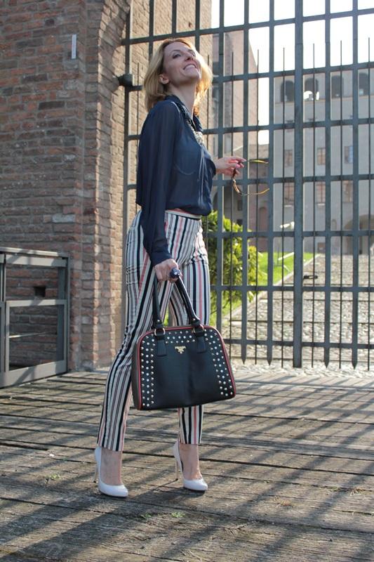 Margaret Dallospedale, Fashion blogger, Maggie Dallospedale Fashion diary, fashion tips, Lifestyle, Striped  pants, 12