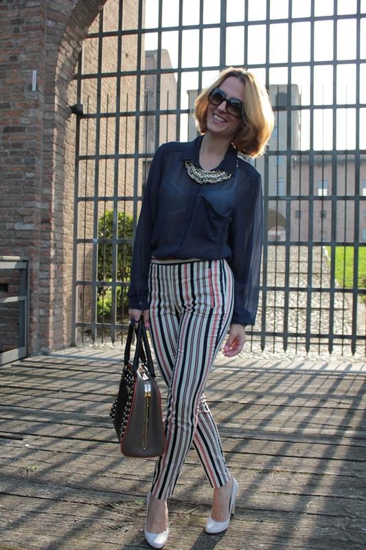 Margaret Dallospedale, Fashion blogger, Maggie Dallospedale Fashion diary, fashion tips, Lifestyle, Striped  pants, 13