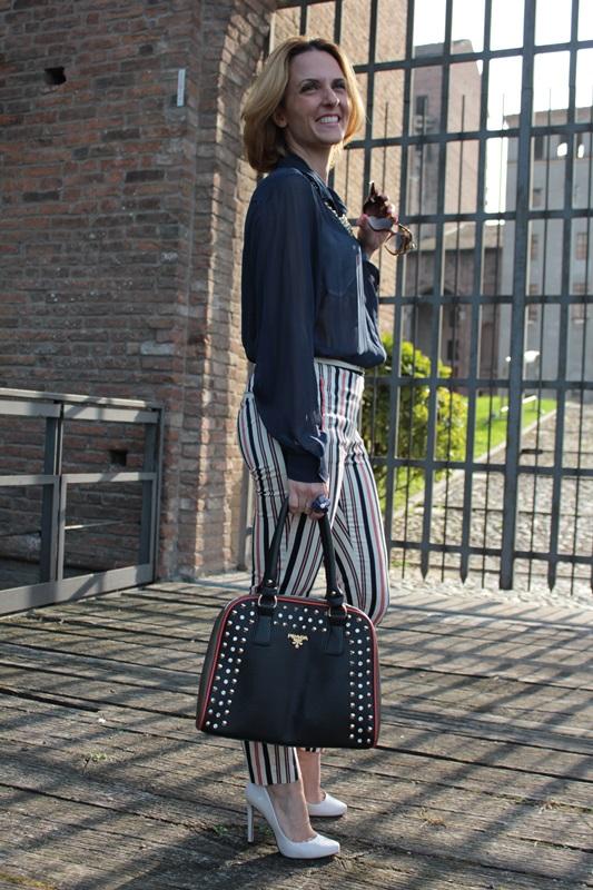 Margaret Dallospedale, Fashion blogger, Maggie Dallospedale Fashion diary, fashion tips, Lifestyle, Striped  pants, 14