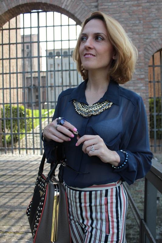 Margaret Dallospedale, Fashion blogger, Maggie Dallospedale Fashion diary, fashion tips, Lifestyle, Striped  pants, 15