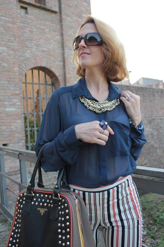 Margaret Dallospedale, Fashion blogger, Maggie Dallospedale Fashion diary, fashion tips, Lifestyle, Striped  pants, 16