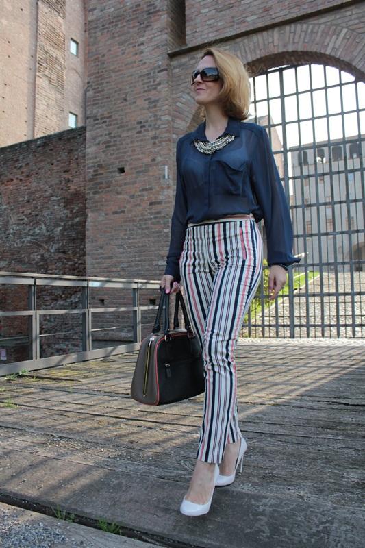 Margaret Dallospedale, Fashion blogger, Maggie Dallospedale Fashion diary, fashion tips, Lifestyle, Striped  pants, 4