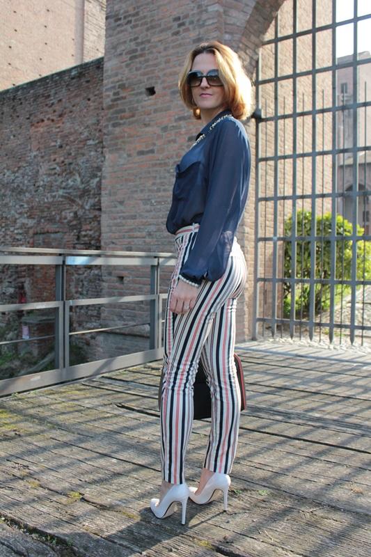 Margaret Dallospedale, Fashion blogger, Maggie Dallospedale Fashion diary, fashion tips, Lifestyle, Striped  pants, 5