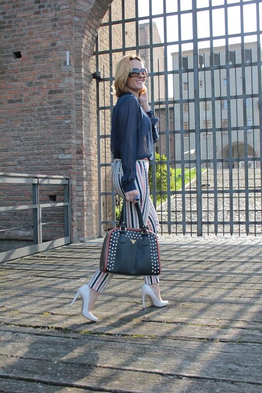 Margaret Dallospedale, Fashion blogger, Maggie Dallospedale Fashion diary, fashion tips, Lifestyle, Striped  pants, 6