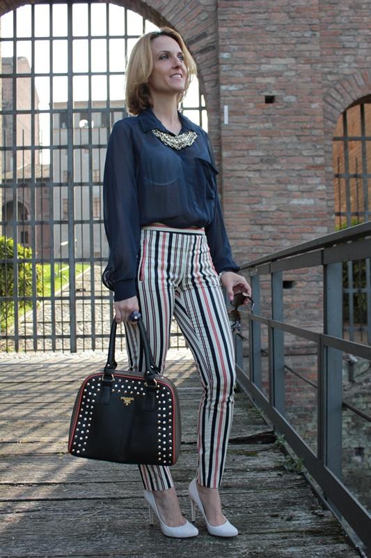Margaret Dallospedale, Fashion blogger, Maggie Dallospedale Fashion diary, fashion tips, Lifestyle, Striped  pants, 8