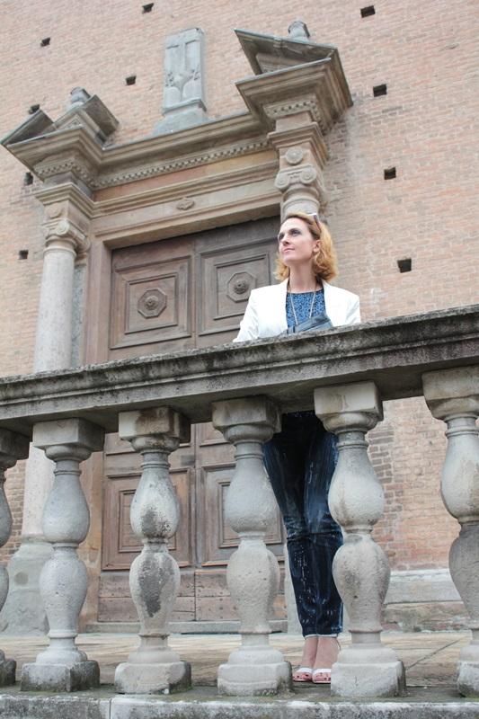 Margaret Dallospedale, Fashion blogger, Maggie Dallospedale Fashion diary, fashion tips, Lifestyle, sparkle top and jeans, 1