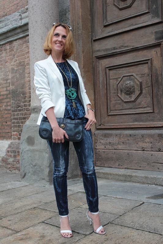Margaret Dallospedale, Fashion blogger, Maggie Dallospedale Fashion diary, fashion tips, Lifestyle, sparkle top and jeans, 6