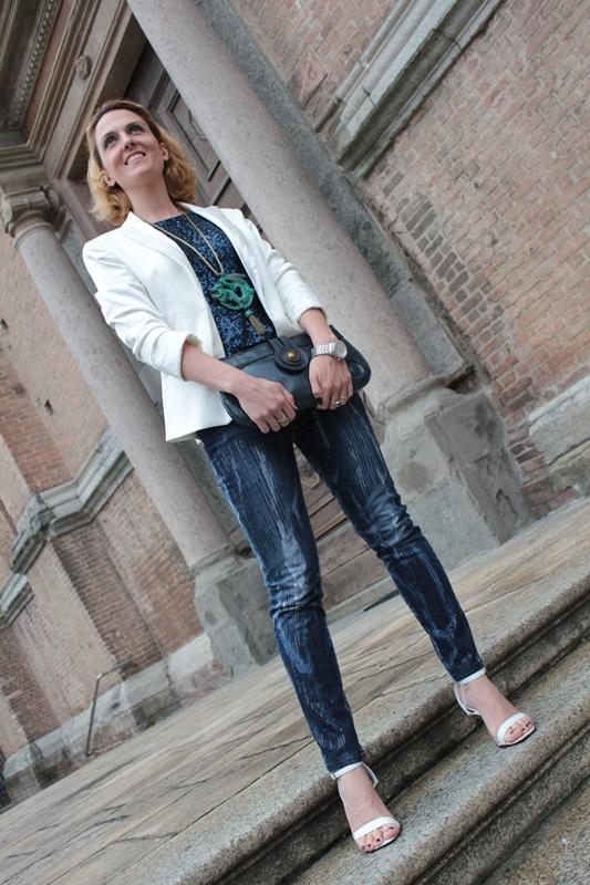 Margaret Dallospedale, Fashion blogger, Maggie Dallospedale Fashion diary, fashion tips, Lifestyle, sparkle top and jeans, 8