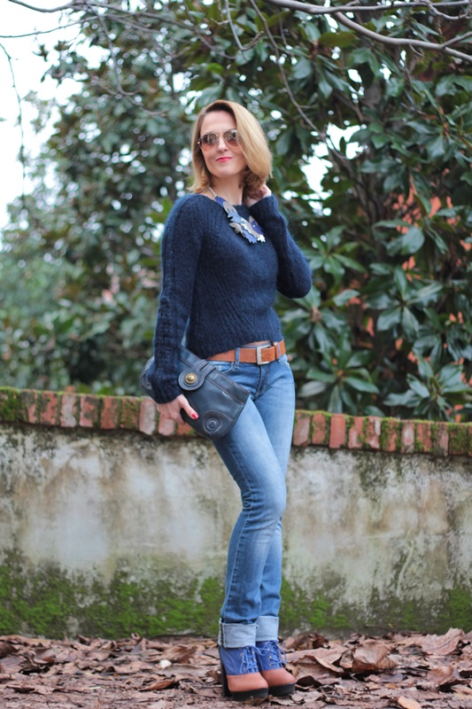 Margaret Dallospedale, Maggie Dallospedale fashion diary, Fashion blog, Fashion blogger,  fashion tips, how to wear, Outfits, OOTD, Fall outfit, Blue on Blue, 6