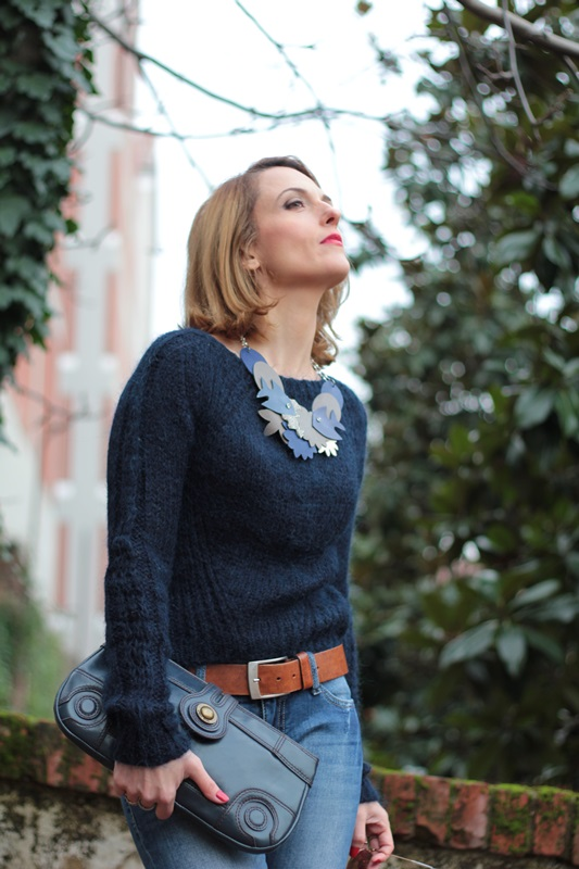 Margaret Dallospedale, Maggie Dallospedale fashion diary, Fashion blog, Fashion blogger,  fashion tips, how to wear, Outfits, OOTD, Fall outfit, Blue on Blue, 9