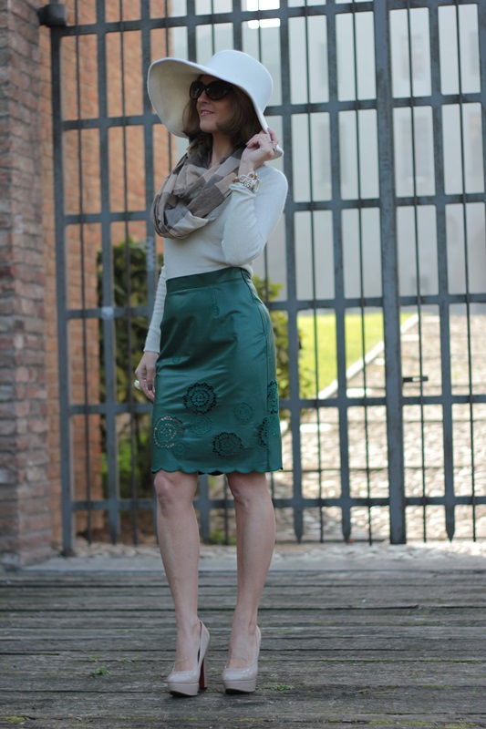 Margaret Dallospedale, Maggie Dallospedlae fashion diary, Fashion blog, Fashion blogger,  fashion tips, how to wear, Outfits, OOTD, Fall outfit, Autumn outfit, Green Leather skirt, 10