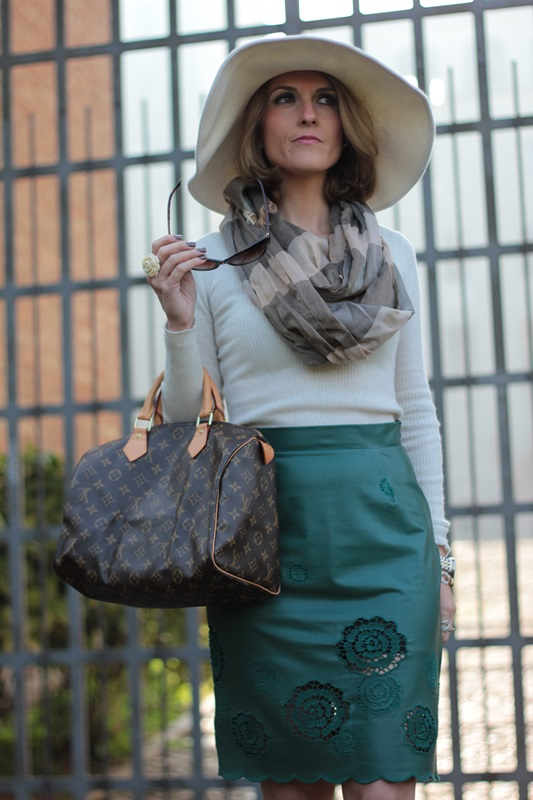 Margaret Dallospedale, Maggie Dallospedlae fashion diary, Fashion blog, Fashion blogger,  fashion tips, how to wear, Outfits, OOTD, Fall outfit, Autumn outfit, Green Leather skirt, 11