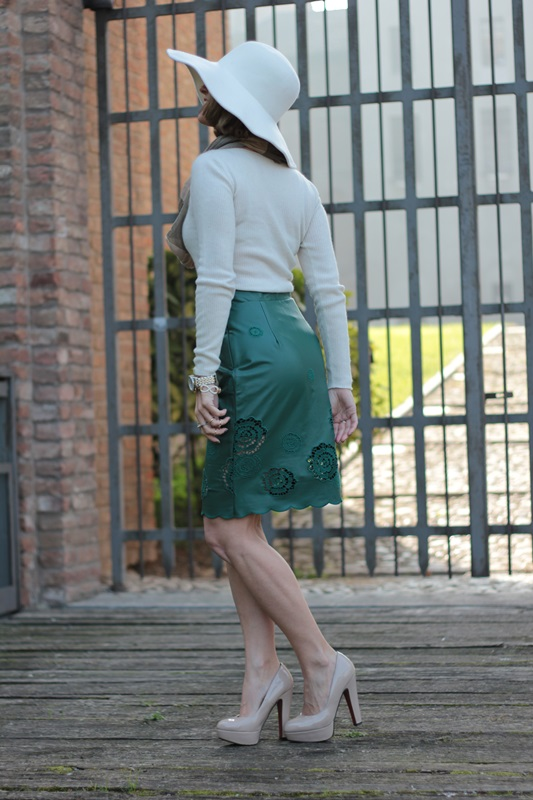 Margaret Dallospedale, Maggie Dallospedlae fashion diary, Fashion blog, Fashion blogger,  fashion tips, how to wear, Outfits, OOTD, Fall outfit, Autumn outfit, Green Leather skirt, 5